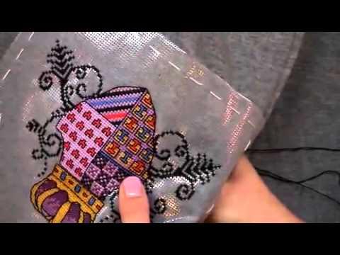 Вышивка на растворимой канвой