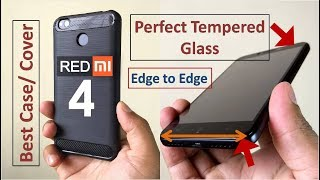Redmi 4 Perfect Tempered Glass & Best Case/ Cover + tempered glass installation demo thumbnail