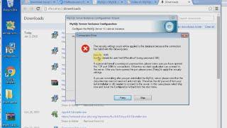 Mysql 4.1 error : Error Nr. 1045 access denied for user 'root'@'localhost'(, 2016-01-03T14:15:40.000Z)