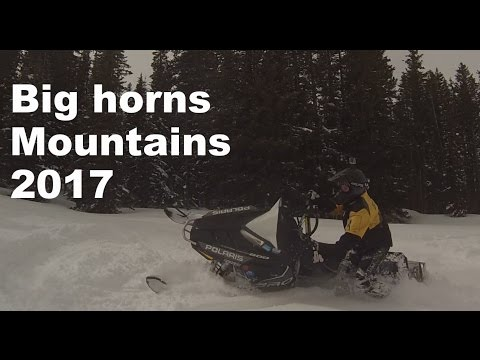 Big Horn Mountains Snowmobiling 2017