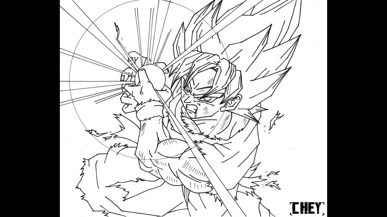 Dragon Ball Z Goku Super Saiyan 5 Coloring Pages