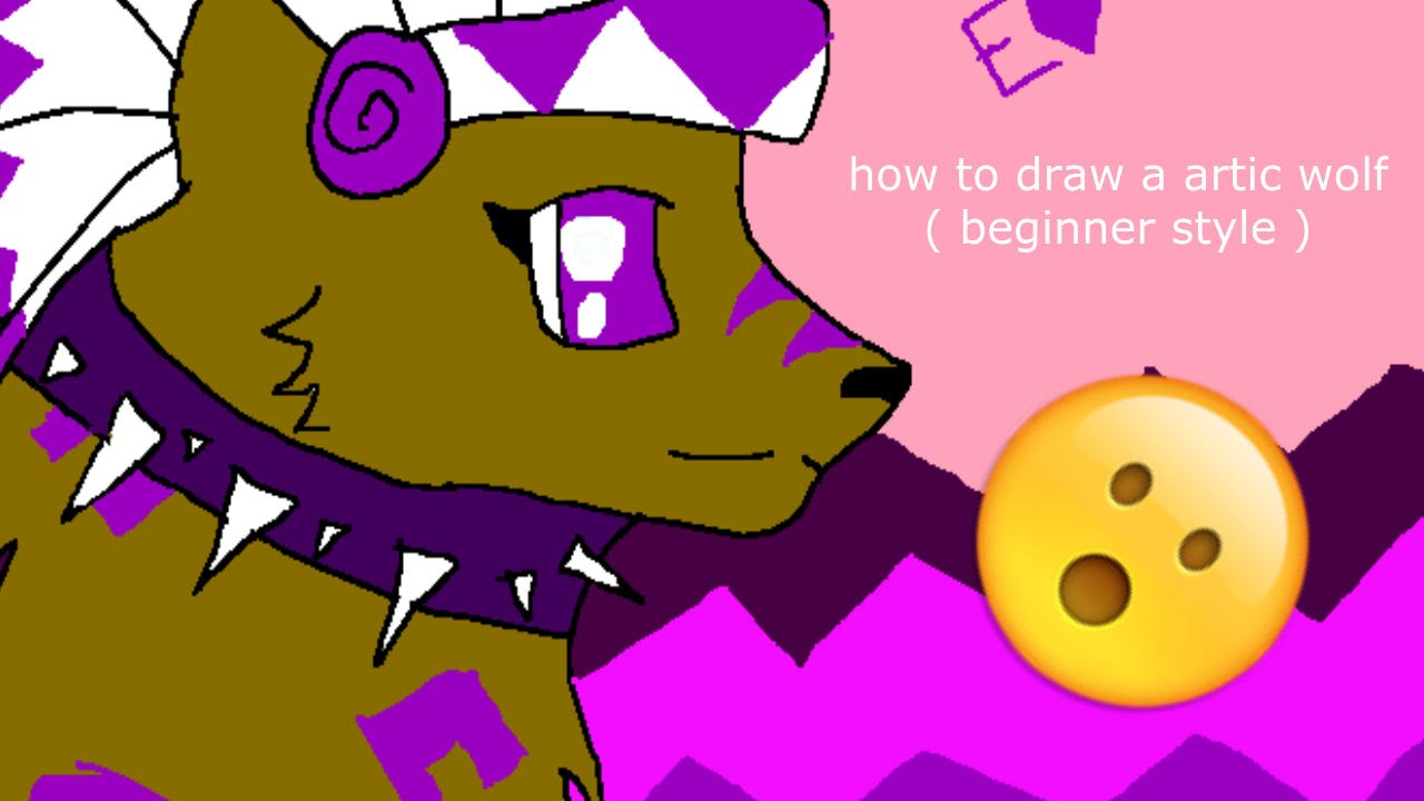 How to draw a artic wolf beginner version youtube ccuart Choice Image