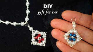 Diy Gift For Her. Beaded Necklace. How To Make Jewelry With Beads.