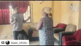 Dancing abule sowo  when his mum caught him mocking her.