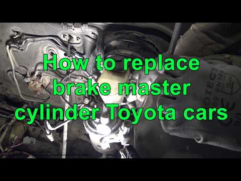 How to replace brake master cylinder Toyota cars