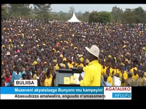 Buliisa Museveni akyatalaaga Bunyoro mu kampeyini