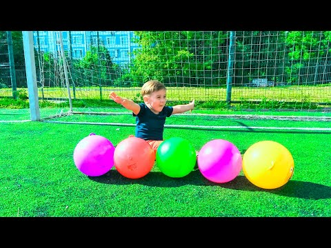 Thumbnail: Learn Colors with Balls for Children and Toddlers | Play Football Learning Colours Outside Activity
