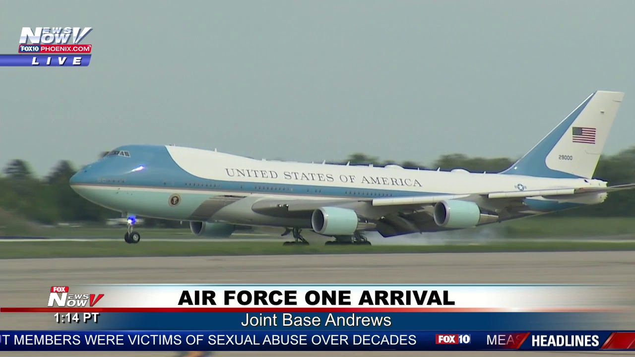 Download WHAT A LANDING: Air Force One Back at Joint Base Andrews from Georgia