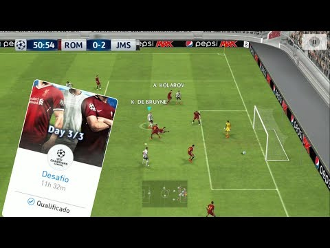 PES 2018 MOBILE - CONCLUINDO O DIA 3 DO VS UEFA CHAMPIONS LEAGUE - JOGANDO CONTRA GIGANTE ITALIANO