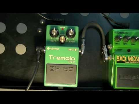 Boss Tremolo TR-2 Demo (Clean And Dirty)