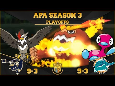 PLAYOFFS! TIME FOR REVENGE!   StL Rampardos VS Mia Donphans APA S3   Pokemon Ultra S/M