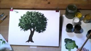 Как нарисовать дерево гуашью(Видео-урок от сайта http://izotika.ru., 2012-05-29T16:46:40.000Z)