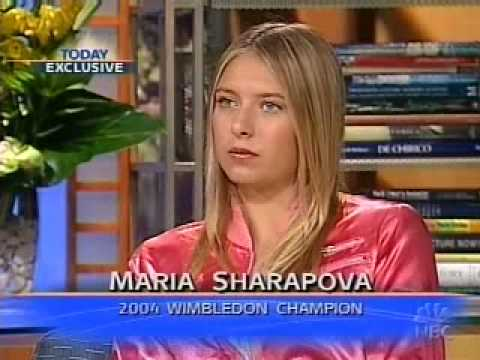 Sharapova  speaks with M.Lauer about her Wimbledon win.
