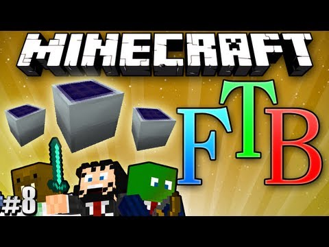 "Minecraft: Feed the Beast #8 ""Pipes & Solar Panels"""