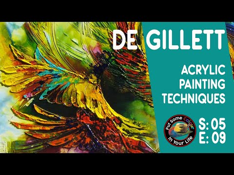 Fine art tips on Acrylic Art with De Gillett on Colour In Your Life