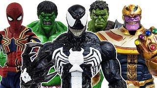 Thanos & Venom vs The Avengers Battle, Go~! Hulk, Spider Man, Iron Man, Captain America, Thor