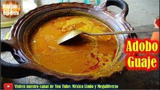Asi se hace el ADOBO de Puerco con GUAJE y tortillas recien saliditas del comal