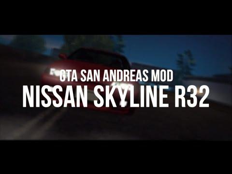 Grand Theft Auto San Andreas MOD: Nissan Skyline R32 [MACHINIMA]
