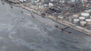 アスファルトが海に流出 千葉のコスモ製油所