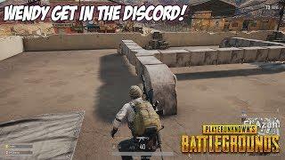 WENDY GET IN THE DISCORD! - PUBG (Player Unknown Battlegrounds)