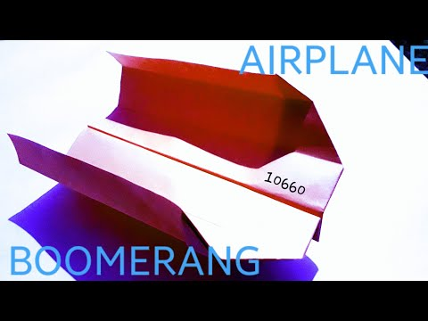 #Eye TV How to make a paper Airplane BOOMERANG That COMES BACK TO YOU.