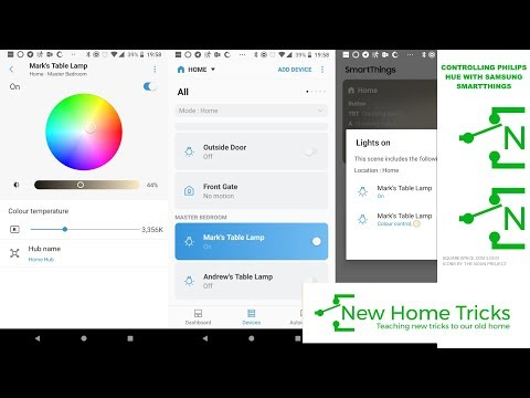 Controlling Philips Hue With Samsung Smartthings Youtube