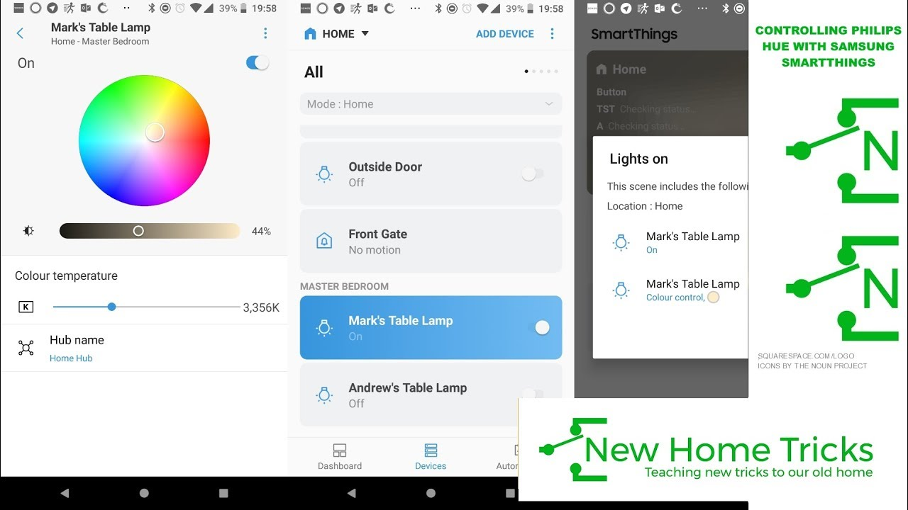 Controlling Philips Hue with Samsung Smartthings