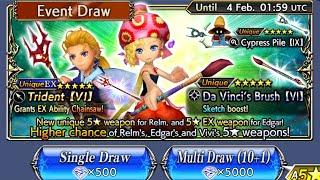 Dissidia Final Fantasy Opera Omnia Global - Relm Event Banner & Edgar EX