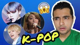 REACCIONANDO a CANTANTES de K-POP por PRIMERA VEZ!!! (BTS, EXO, EKID, BLACKPINK...)