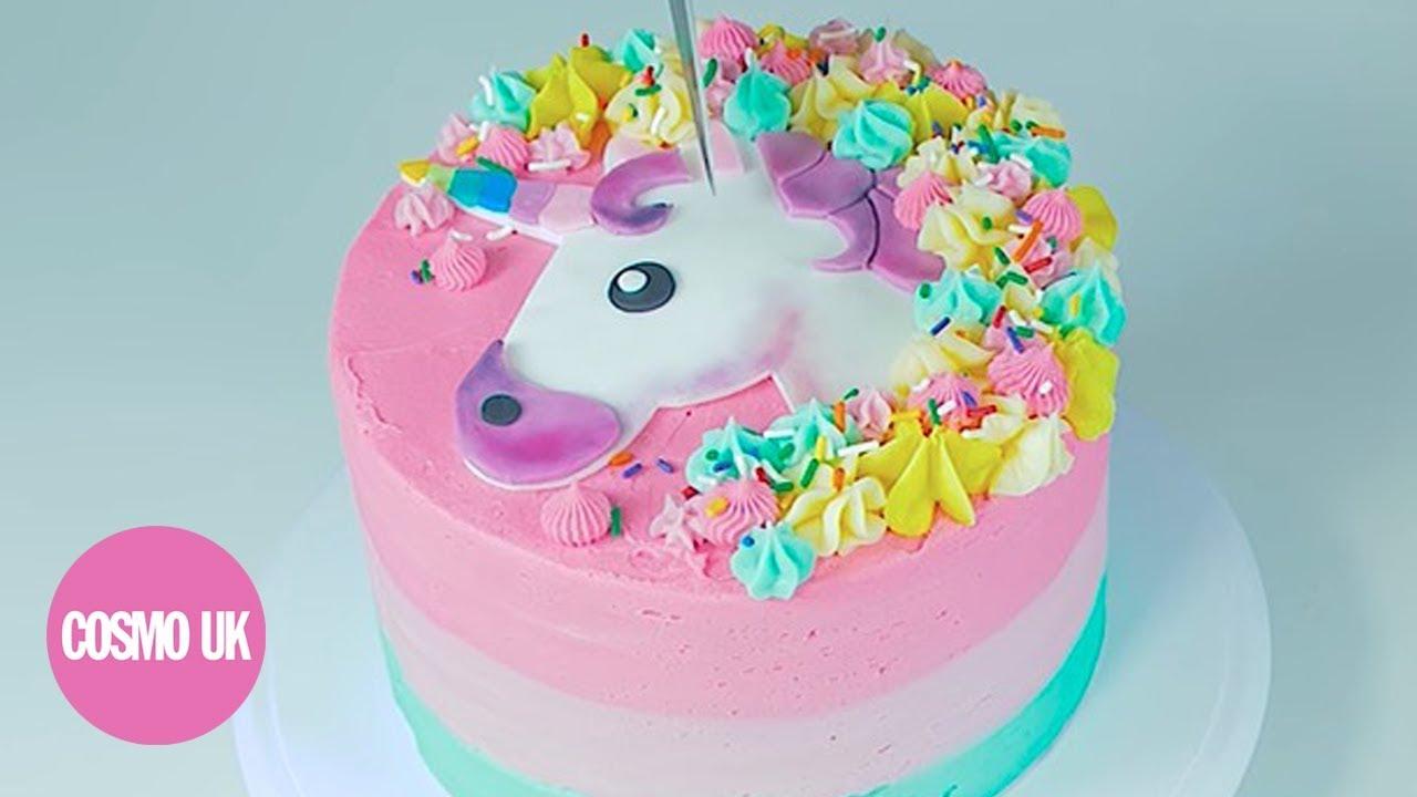 How to make a unicorn emoji cake YouTube