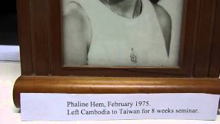 MVI2415 - Phaline HEM, February 1975 left Cambodia to Tawain for 8 weeks seminar.