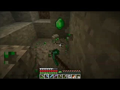 Minecraft - Mining Emeralds, Diamonds, Gold, Redstone, Lapis