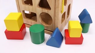 Learning Colors Shapes & Sizes with Wooden Box Toys for Children