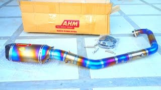Unboxing: AHM Racing TITANIUM EXHAUST Exciter LC 150 Sniper King