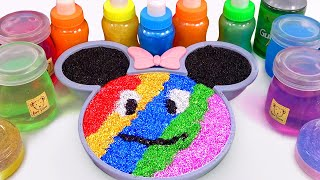 Mixing All Colors Slime Smoothie with DISNEY MICKEY | Learn Colors Rainbow Slime for Kids