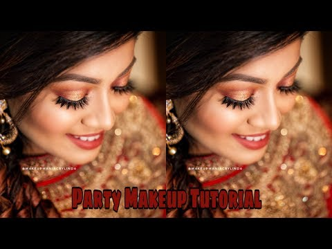 Full Glam EID MAKEUP TUTORIAL 2018 ❤️ | Maroon & Gold Halo Eye Makeup Tutorial