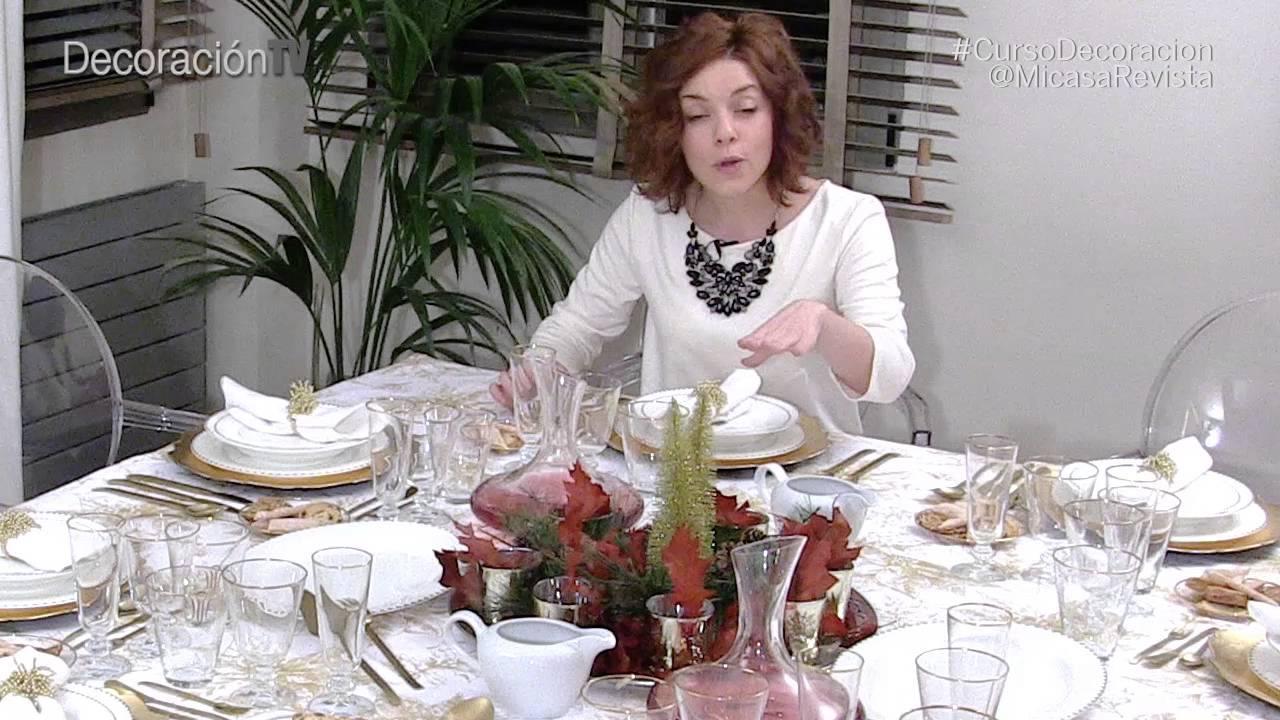 C mo montar una elegante mesa de navidad curso de for Mesa de navidad elegante