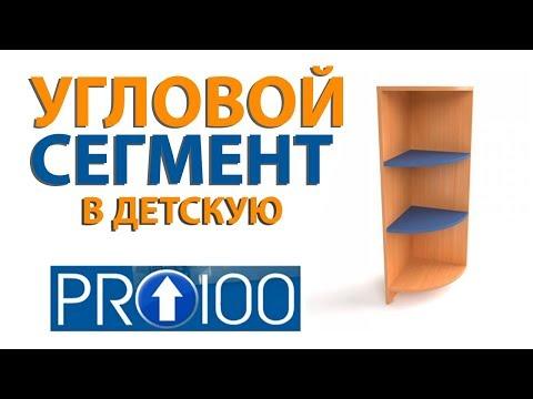 Угловой сегмент для детских шкафов (PRO100 5)