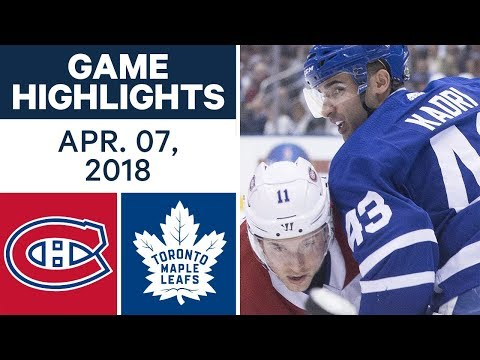 NHL Game Highlights | Canadiens vs. Maple Leafs - Apr. 07, 2018