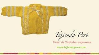 Repeat youtube video Chaquetita o ropón tejido en dos agujas (parte del conjunto de 4 piezas)