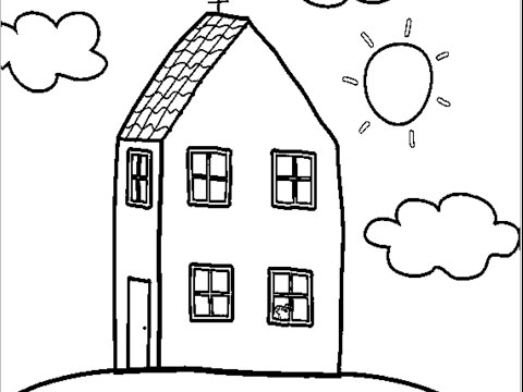 Peppa Pig Coloring Pages House Let S