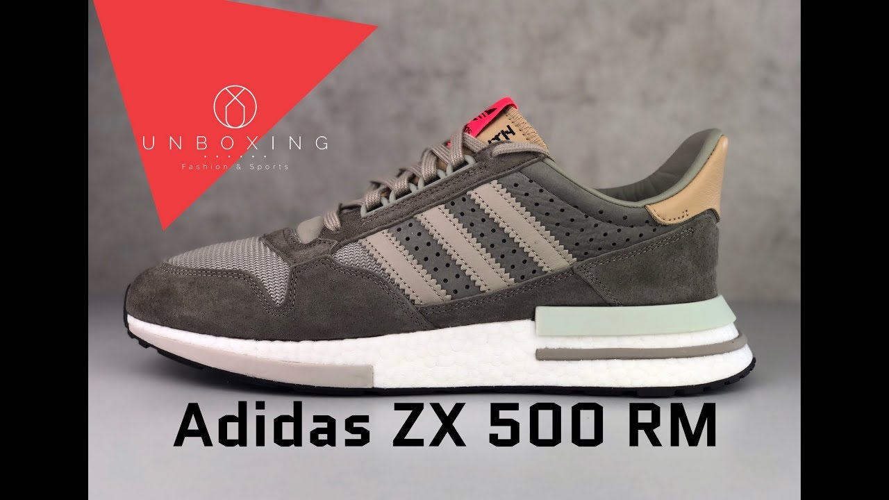 check out 2a116 7b4bd Adidas ZX 500 RM 'Simple Brown/Light Brown/Ftwr White' | UNBOXING & ON FEET  | fashion shoes | 2019