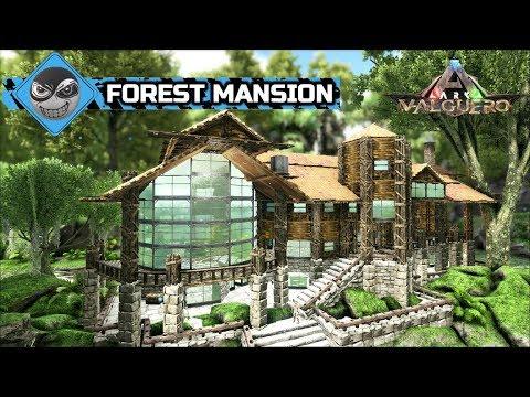 Ark Survival Evolved Large House Build Forest Mansion Base Design Speed Build Youtube