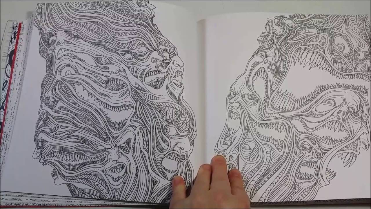 The Beauty Of Horror A Goregeous Coloring Book Youtube