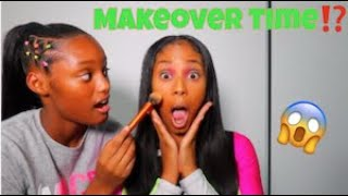 LETTING MY 13 YEAR OLD DO MY MAKE-UP FOR THE FIRST TIME!! (SUPER FUNNY)