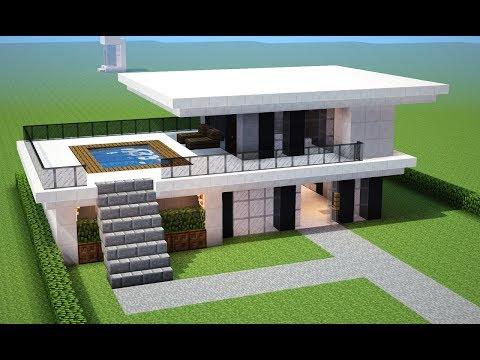 Minecraft casas for Casa moderna survival minecraft