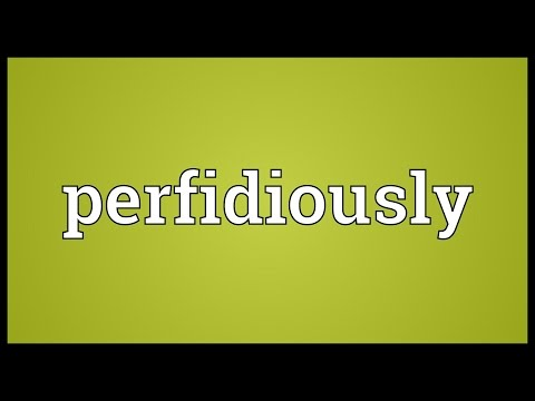 Header of perfidiously