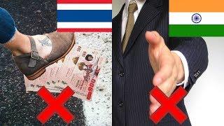 10 สิ่งที่ห้ามทำในต่างประเทศเด็ดขาด (ไทยก็มี)