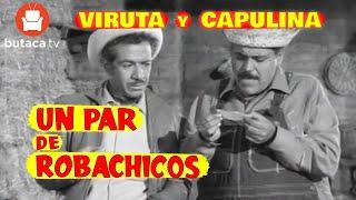 Viruta y Capulina: Un par de roba chicos - Película Completa