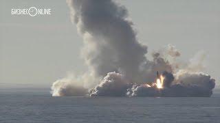 Минобороны РФ опубликовало видео запуска ракет «Булава» в Белом море